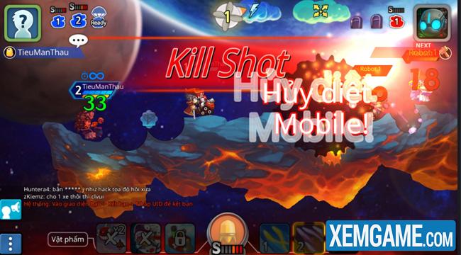 Gunbound M là nơi vinh danh kỹ năng bắn súng tọa độ của game thủ