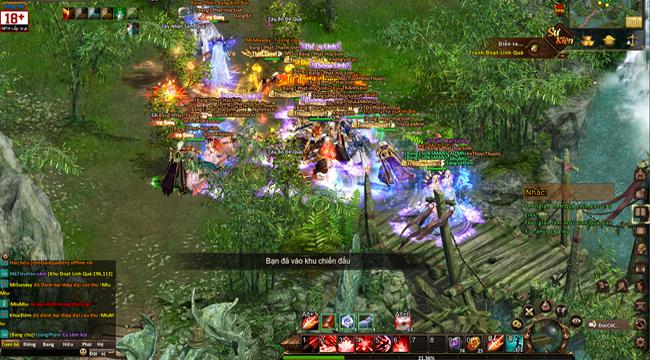 Hậu liên thông server, game thủ Ngạo Kiếm Vô Song 2 phấn khích vì chiến trường đông không tưởng