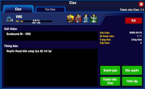 Khám phá tính năng Clan cực kỳ thú vị dành cho cộng đồng game thủ Gunbound M
