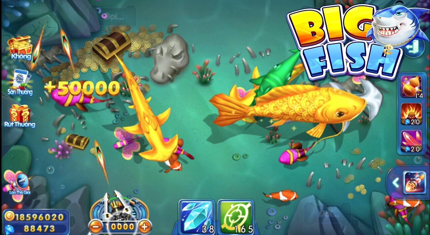 Với Big Fish H5 việc trải nghiệm game bắn cá chưa bao giờ dễ dàng đến thế