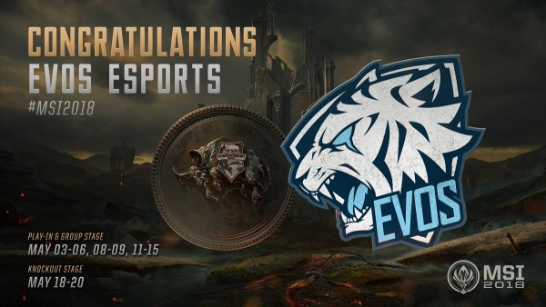Liên Minh Huyền Thoại: EVOS Esports chính thức đại diện Việt Nam thẳng tiến MSI 2018