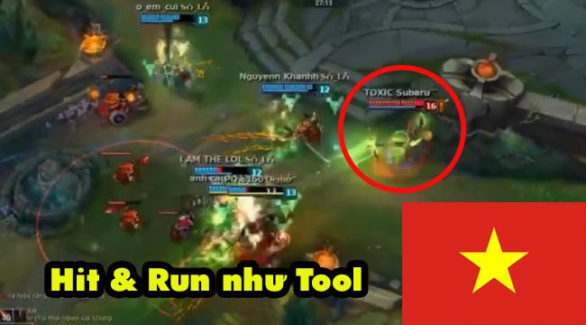 Liên Minh Huyền Thoại: Choáng với khả năng hit & run cực định như tool hack của Xạ Thủ Việt