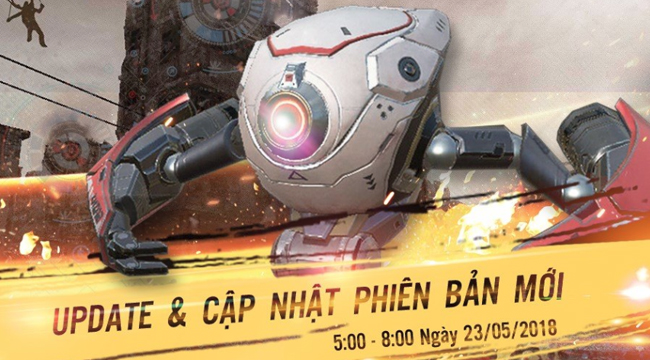 Rules of Survival cập nhật 23/5 : Robot trợ thủ chính thức ra mắt game thủ Việt
