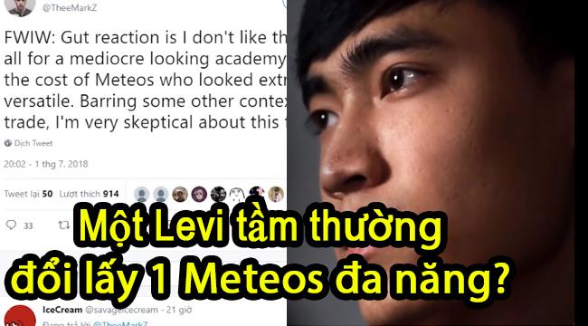 LMHT: Sau sự ra đi của Meteos, Levi đang phải hứng chịu áp lực khủng khiếp của cộng đồng phương Tây