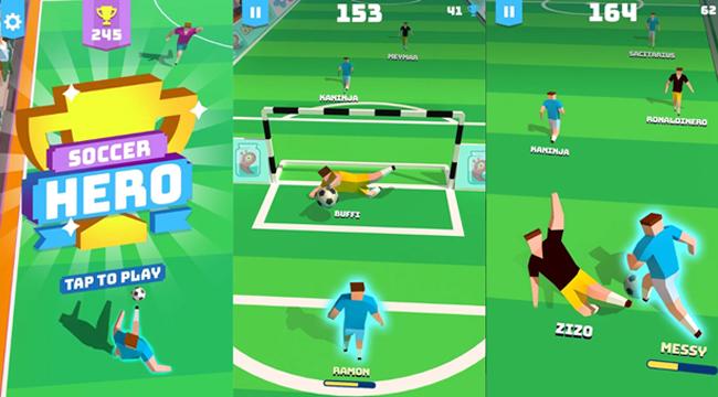 Soccer Hero : game đá bóng vô hạn cho những fan nghiền thể thao