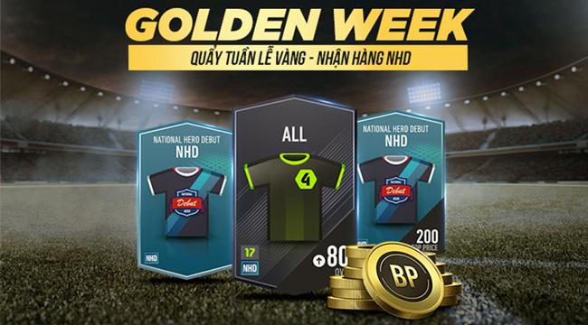 """FIFA Online 4 mở sự kiện """"Tuần Lễ Vàng"""" cho phép bạn nhận free thẻ NHD"""