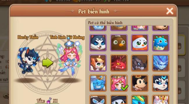 Biến hình Pet là một trong những thứ được trông chờ trong phiên bản mới của GunPow