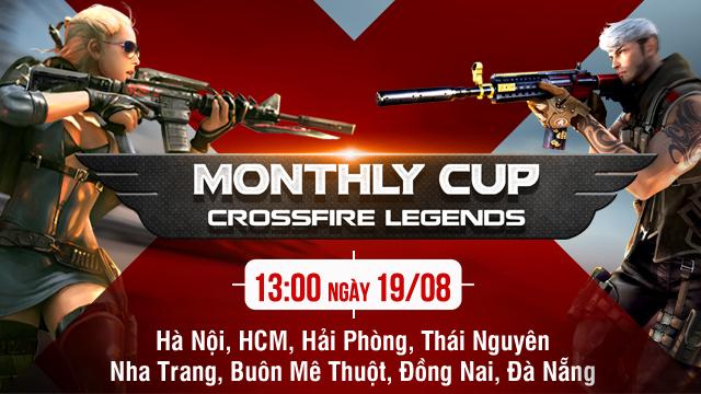Crossfire Legends: Cuối tuần sôi động với CFL Monthly Cup tại 8 tỉnh thành