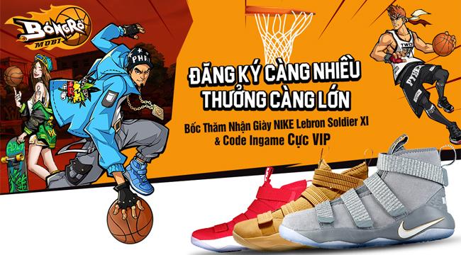 VNG bất ngờ cho đăng ký trước siêu phẩm Bóng Rổ Mobi nhận giày Nike và code cực hot