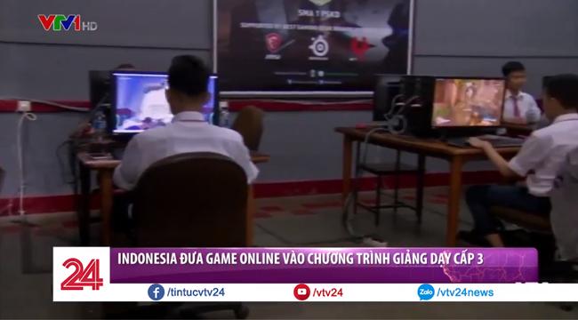 """VTV1 đưa tin: """"Indonesia mang thể thao điện tử vào chương trình giảng dạy cấp 3"""""""