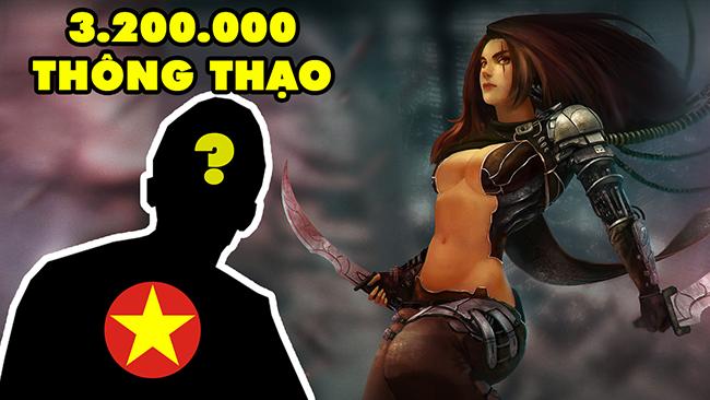 LMHT: Choáng váng với Katarina Việt Nam múa như xiếc với 3.200.00 điểm thông thạo