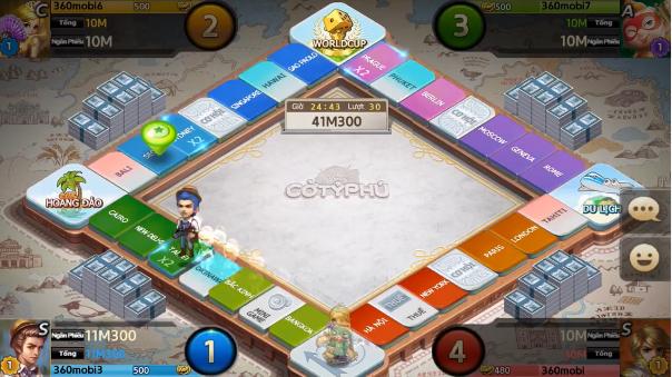 Đánh giá 360mobi Cờ Tỷ Phú: Trò chơi kinh điển của tuổi thơ được tái hiện lại