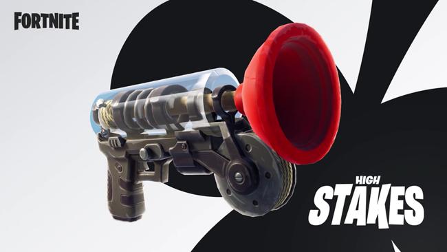 """Fortnite ra mắt súng Grappler để người chơi bay nhảy """"săn"""" Titan"""