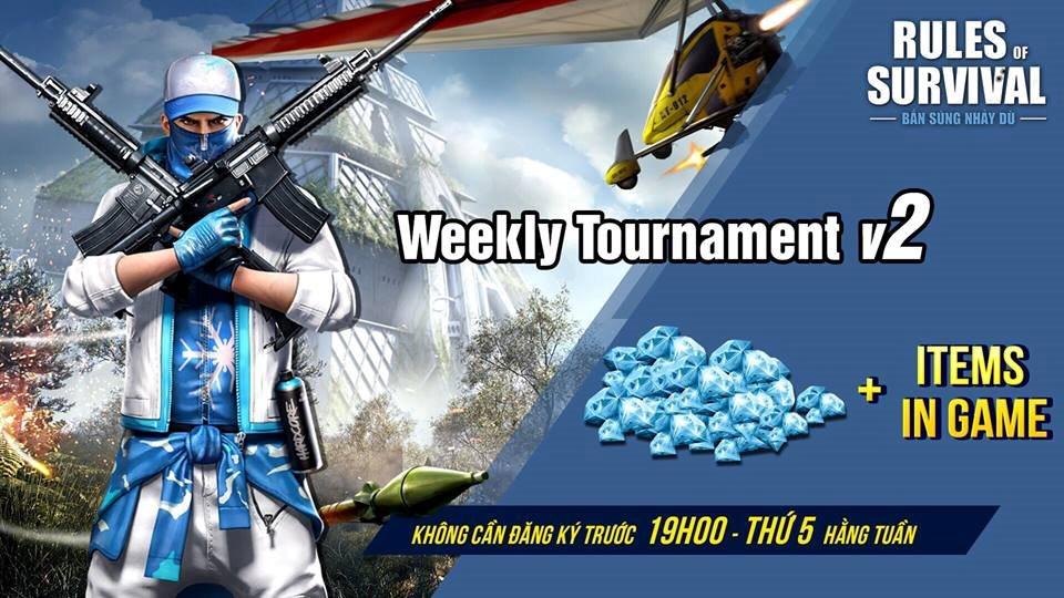 Rinh kim cương cùng rất nhiều phần quà giá trị tại Weekly Tournament vào tối 19h ngày 25/10