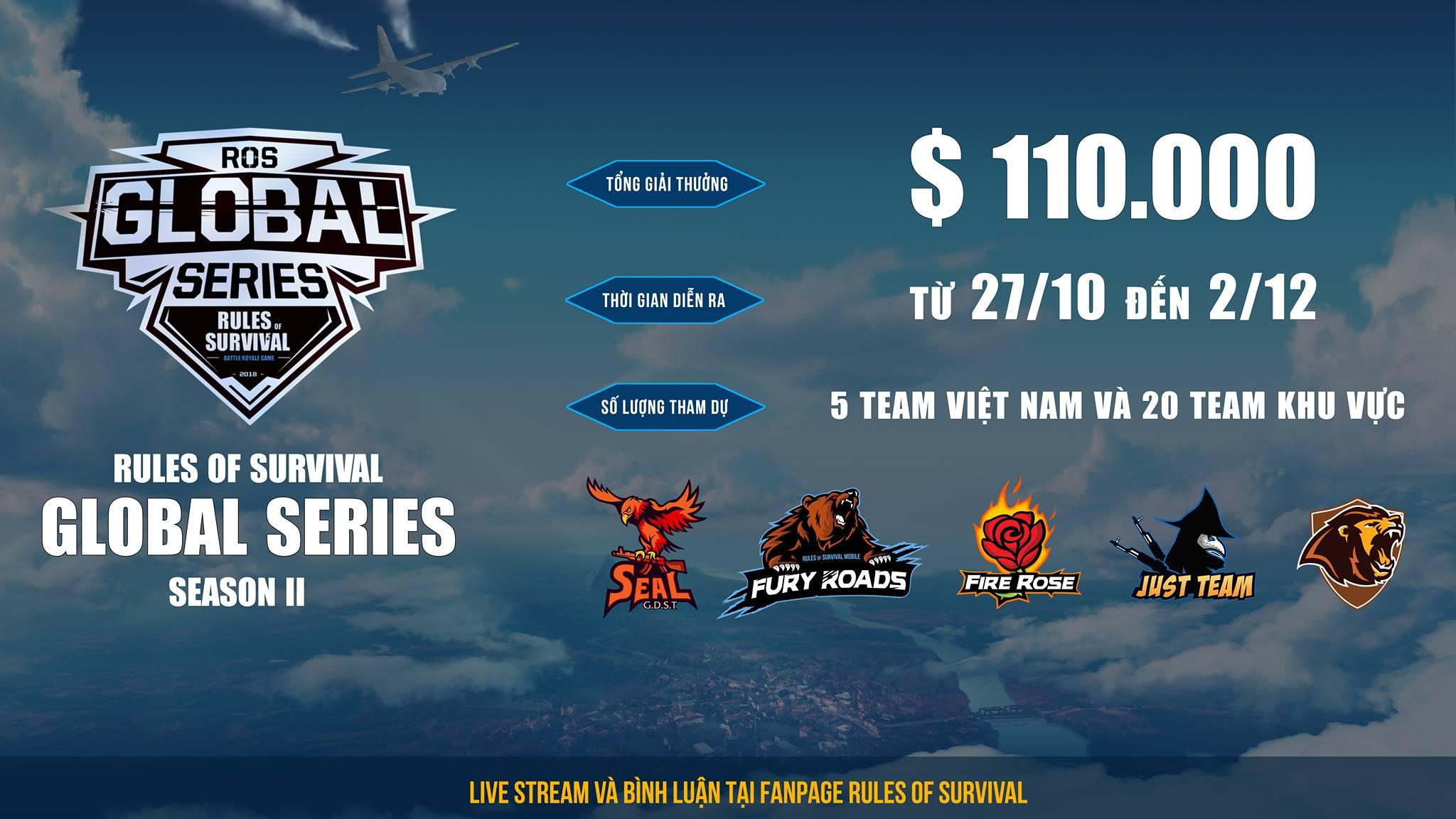 ROS Mobile Global Series Season 2: Cùng tìm hiểu đội hình ra quân của 5 đại diện đến từ Việt Nam