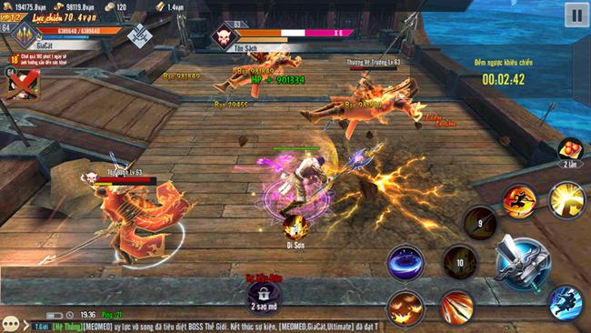 Thần Long Tam Quốc Mobile mở ra rất nhiều cách combo skill đa dạng