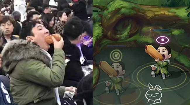 Liên Minh Huyền Thoại: Ông chủ Invictus Gaming Vương Tư Thông sẽ có mẫu mắt ăn hotdog?
