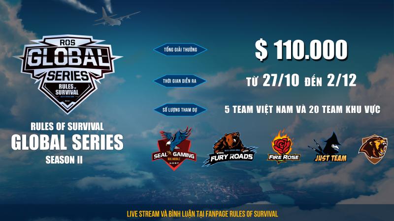 ROS Mobile Global Series: Các đội tuyển Việt Nam gặp khó tại tuần thi đấu thứ 2