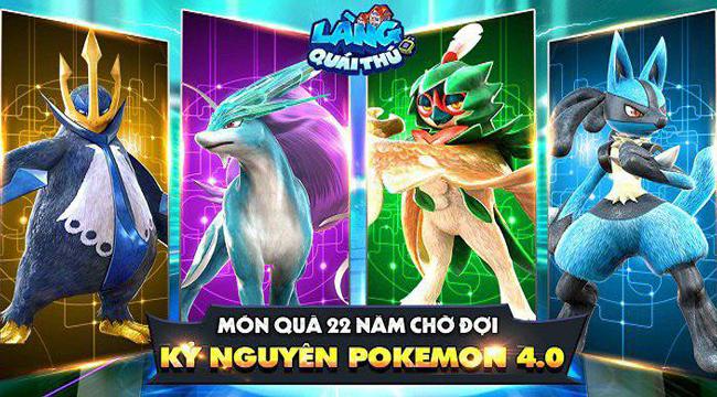 Làng Quái Thú Mobile hứa hẹn sẽ mang đến cảm giác bắt Pokémon đầy quen thuộc cho game thủ