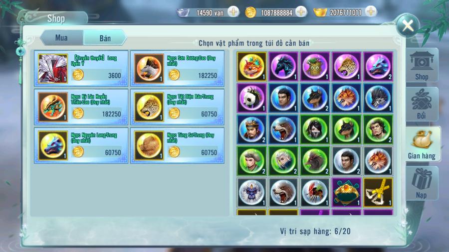 Nhất Kiếm Giang Hồ Mobile cho phép người chơi giao dịch tự do để kiếm lợi