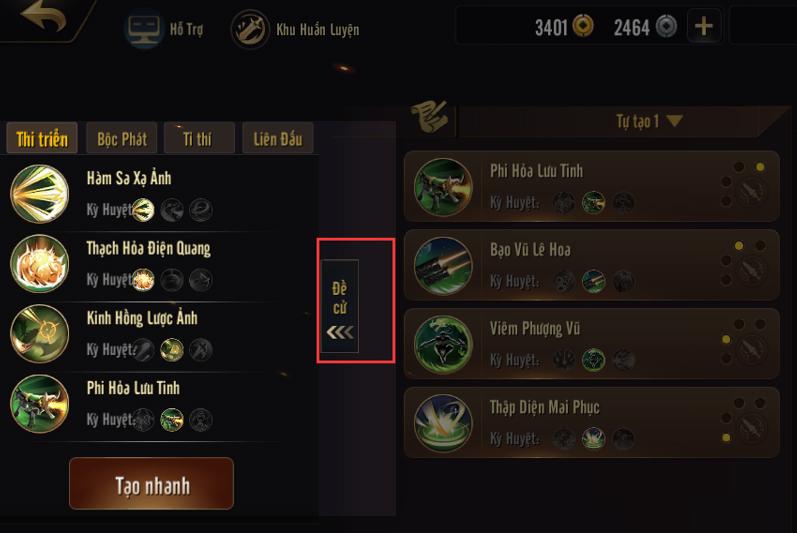 Kiếm Thế Mobile VNG mang đến vô số tùy chọn tu luyện võ công trong game