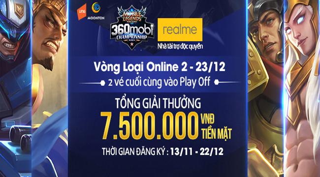 Nóng rực lửa với giải Online 2 – 360mobi Championship Series bộ môn Mobile Legends: Bang Bang VNG