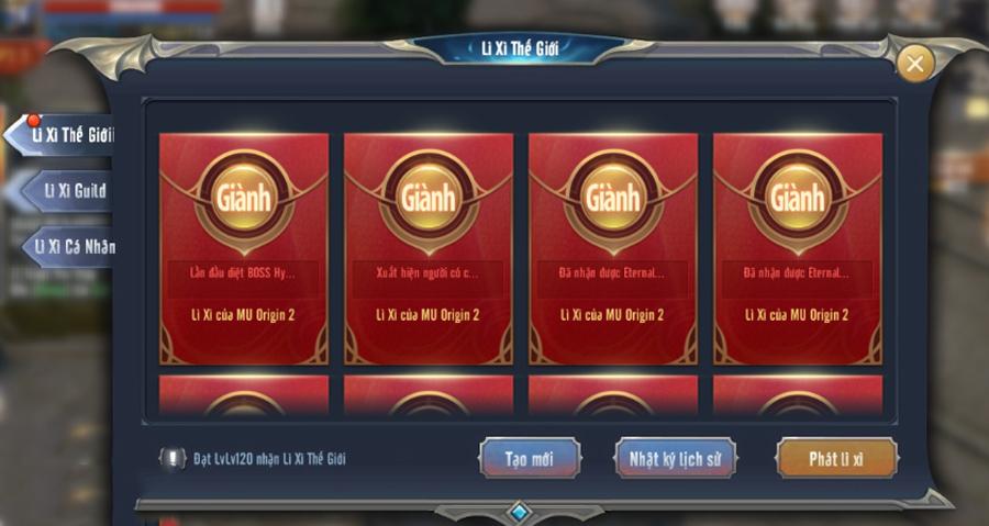 MU Awaken VNG tặng lì xì cho game thủ cực chất khi Tết ngày càng đến gần