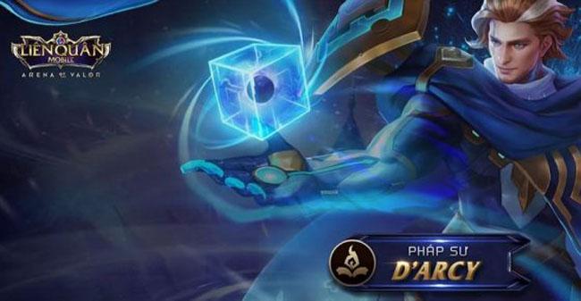 """Liên Quân mobile : Chi tiết kỹ năng của D'arcy – siêu pháp sư với khả năng """"bất tử"""" và bắt cóc kẻ địch theo ý muốn"""