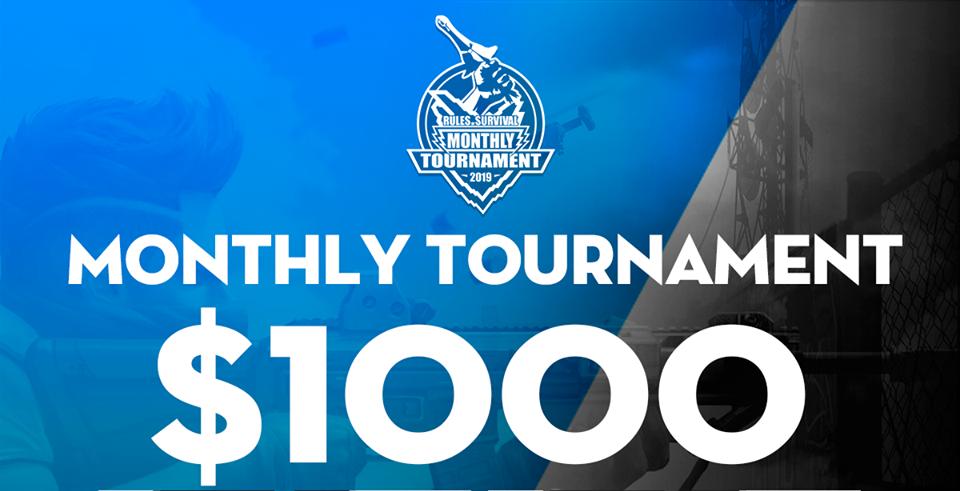 Giải đấu trị giá 1000$ Rules of Survival Monthly Tournament chính thức khởi tranh vào 17h chiều nay 26/1