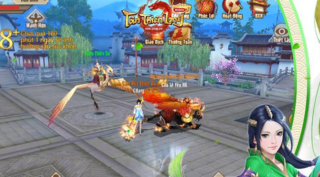 Trong Tân Thiên Long Mobile VNG, bạn cần kết giao cao thủ để được tiến bộ trong võ công