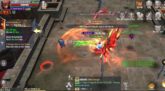 MU Awaken VNG mang đến vô số bãi quái để người chơi treo máy luyện cấp