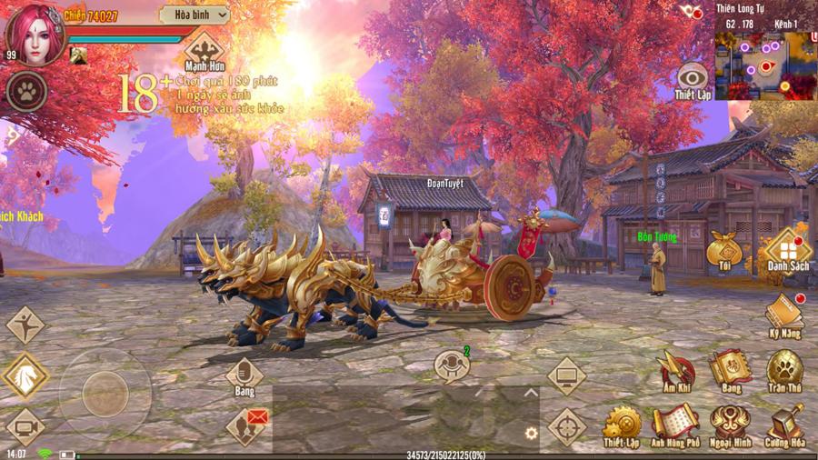 Tân Thiên Long Mobile VNG mở thế giới kiếm hiệp rộng lớn không kém gì bản PC