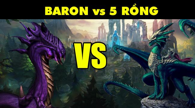 LMHT: 4 Rồng nguyên tố + Rồng Ngàn Tuổi đại chiến Baron thì ai sẽ giành chiến thắng?