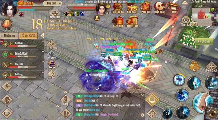 Người chơi Tân Thiên Long Mobile VNG cần có hảo hữu mới phiêu bạt giang hồ được
