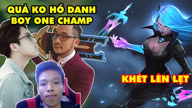 LMHT: Thầy Giáo Ba, Trâu TV, Hà Tiều Phu….chạm mặt Boy One Champ Katarina Việt Nam