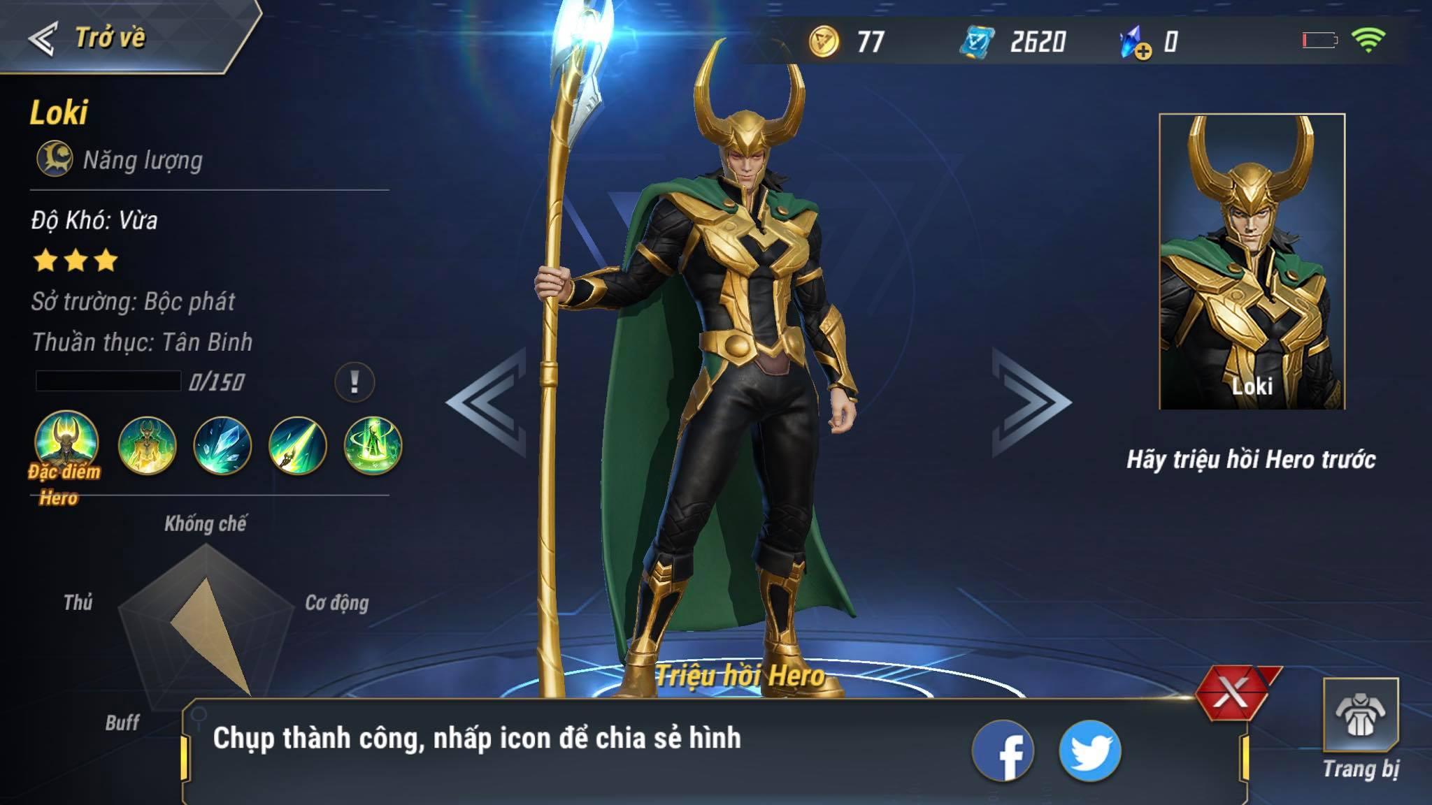 MARVEL Super War đang vô cùng hot bởi hiệu ứng Endgame, có hỗ trợ tiếng Việt cho game thủ
