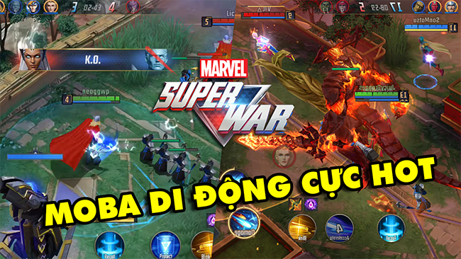 Marvel Super War – Game MOBA di động về các siêu anh hùng của vũ trụ Marvel