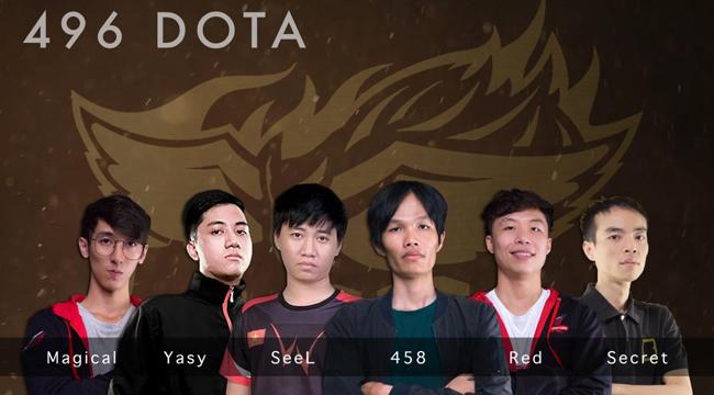 496 Gaming – Team DOTA 2 hàng đầu Việt Nam nhận tài trợ khủng từ 20 Sections