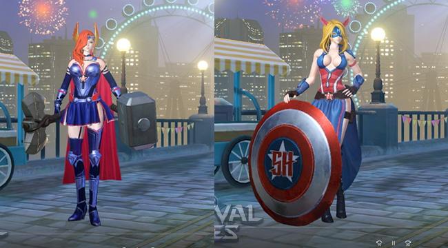 Sau bom tấn EndGame, Captain và Thor sẽ xuất hiện trong bản Update của Survival Heroes
