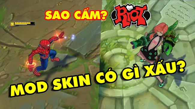 """LMHT: Riot Games cấm Mod Skin và phản ứng trái chiều của người chơi – """"Tự sướng cũng không cho?"""""""