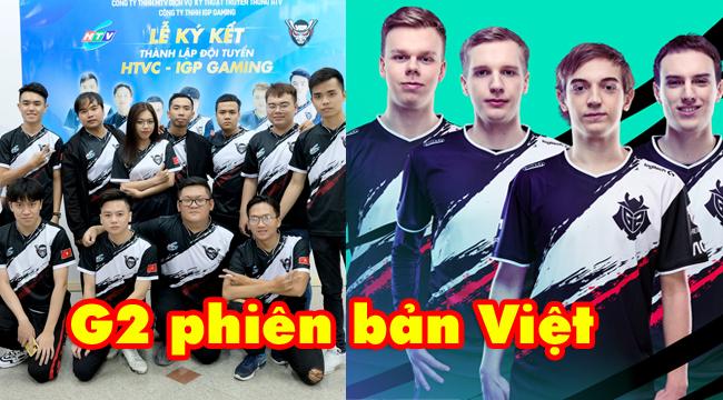 """LMHT: Một đội tuyển Liên Quân Mobile chuyên nghiệp Việt Nam """"mượn"""" ý tưởng áo đấu từ G2 Esports"""