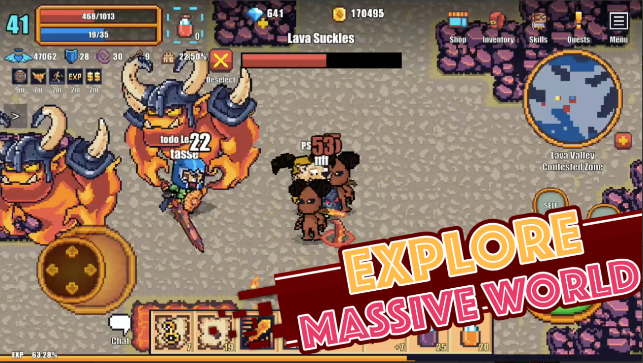 Pixel Knights Online – hóa thân thành hiệp sĩ trong tựa game mobile 2D đầy vui nhộn
