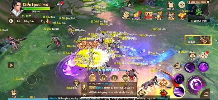 Game thủ Thiên Kiếm Mobile đông nghẹt đi chăn quái trong ngày đầu ra mắt