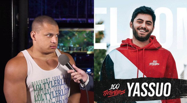"""Liên Minh Huyền Thoại: Tyler1 gọi Yassuo là thằng streamer """"cùi bắp"""" khi gia nhập 100T"""