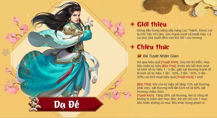Tất tần tật về tướng Kim Dạ Đế trong Tân Chưởng Môn VNG