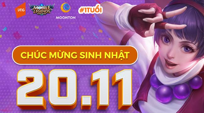 Rộn ràng lời chúc mừng sinh nhật của game thủ đến với Mobile Legends: Bang Bang VNG