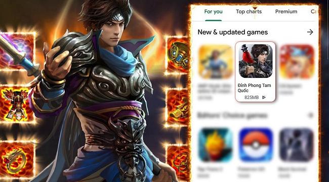 Đỉnh Phong Tam Quốc nằm trong danh sách những ứng dụng được Google Play đề xuất