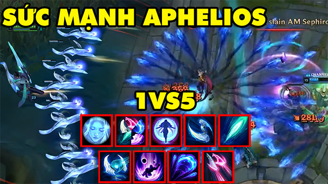 LMHT: Choáng ngợp trước sức mạnh 1vs5 của tướng mới APHELIOS với 10 kỹ năng