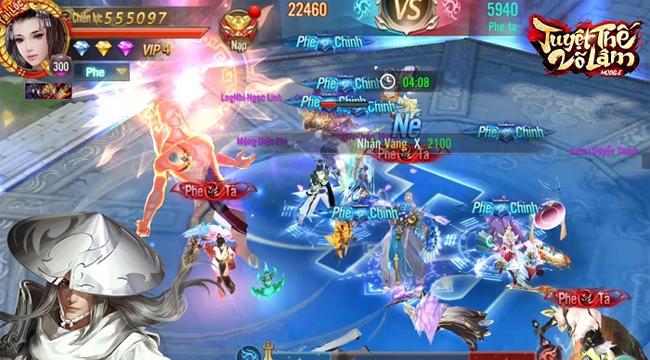 Tuyệt Thế Võ Lâm Mobile có chiến trường Chính Tà vô cùng thu hút người chơi