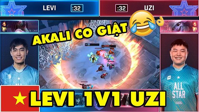 [All Star 2019] LEVI đụng độ ông trùm Solo UZI và cái kết Akali co giật hài không đỡ được